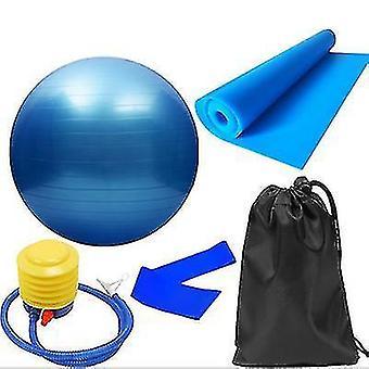 תרגיל כדורים 5pcs / סט אימון כושר כדור יוגה הלהקה אלסטית כחול