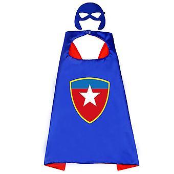 Kinder Superhelden Kostüm Halloween Kostüm Umhang Party Requisiten-Kapitän Amerika B