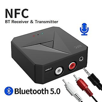 Bluetooth Receiver Transmitter 3.5mm Aux Jack Rca Music Wireless Audio Adapter