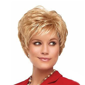Brand Mall Wigs, Lace Wigs, Realistic Blonde Short Curly Hair