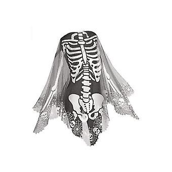 Lace Skeleton Poncho, Halloween Skeleton Cloak