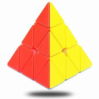 Pyramid Cube Stickerless Speed Cube 3x3x3 Pyraminx Rubix Cube Triangle Magic Cube Puzzle Toys