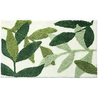 Green Leaves Microfiber Door Mat Entryway Door Mat Bathroom Floor Mat