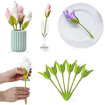 20 Pcs Napkin Holder Made Of Plastic Napkin Holder Flower For Tables