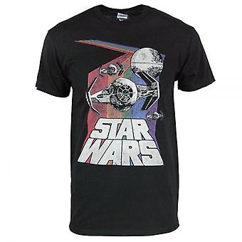 Star Wars Star Wars Retro Rainbow T Shirt Black
