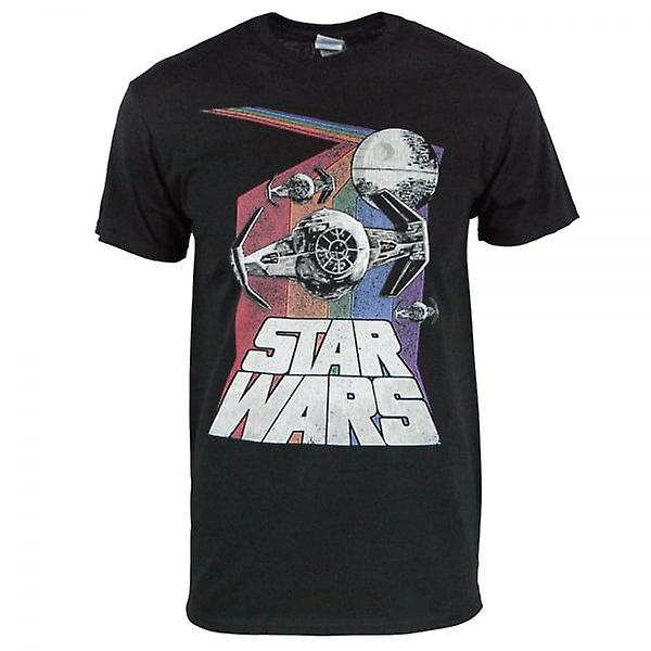 Star Wars Star Wars Retro Rainbow T Shirt noir