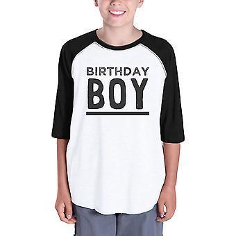 Baby Boy Baseball Tee per regalo di compleanno ragazzi Tee nero manica 3/4