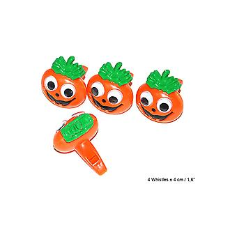 Supporters articles and musical instruments  Whistles Pumpkin 4 pieces