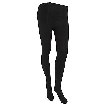 FLOSO Womens/Ladies Plain Thermal Tights With Brushed Inner (0.5 Tog)