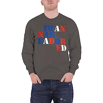 Official Mens The Stone Roses Sweatshirt I Wanna Be Adored new Charcoal