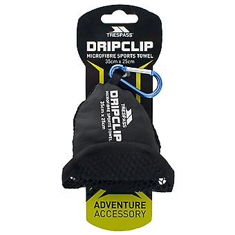 Trespass Dripclip Microfibre Towel Keyring With Carabiner Clip