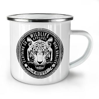 Wildlife Tiger Vintage NEW WhiteTea Coffee Enamel Mug10 oz | Wellcoda