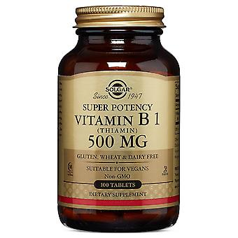 Solgar Vitamin B1 (Thiamin) 500 mg Tablets, 100