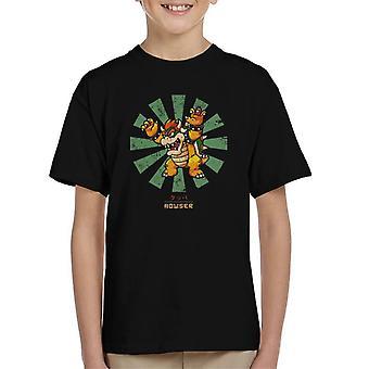 Bowser Retro japońskich Super Mario dla dzieci T-Shirt
