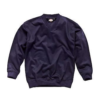 Dickies Mens arbetskläder V Neck tröja marinblå SH11150N