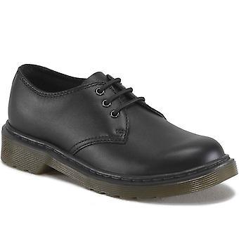 Dr. Martens Everly Kids Zwart Softy T lederen schoenen