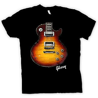 Мужская футболка - золото гитары Гибсон Les Пол - музыка
