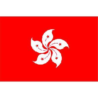 Hong Kong vlag 5 ft x 3 ft met oogjes voor verkeerd-om