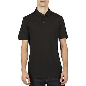 Volcom Wowzer Polo Shirt in Black