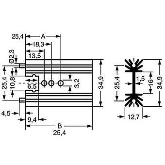 פישר אלקטרונית SK 104 38, 1 STS הפין מפזר חום 11 K/W (L x W x H) 38.1 x 34.9 x 12.7 mm TO 220, SOT 32