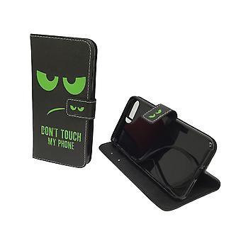 Handyhülle Tasche für Handy Apple iPhone 7 Plus Dont Touch My Phone Grün
