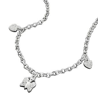 Silver Butterfly Necklace / heart pea chain girl jewelry 925 Silver necklace