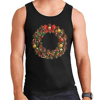 Christmas Wreath Multi Floyd Mayweather Men's Vest