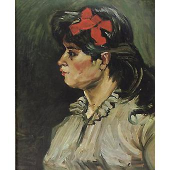 صورة لامرأة مع شريط rde، فنسنت فان جوخ، 60x50cm