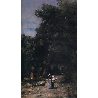 Dans les bois de Fontainebleau, Nicolae Grigorescu, 53,5 x38cm