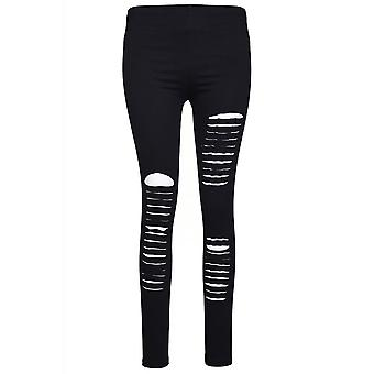 Attitude Clothing Slashed Leggings