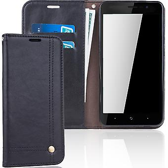 Cell phone cover case voor WIKO Lenny 4 cover wallet Pouch zwart