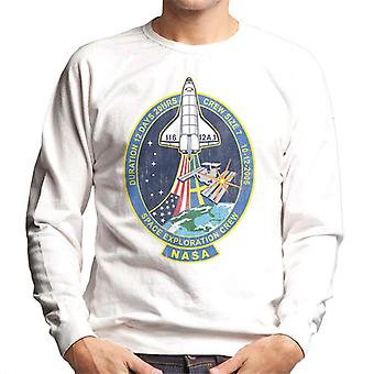 NASA STS 116 Discovery Mission Badge Distressed Men's Sweatshirt