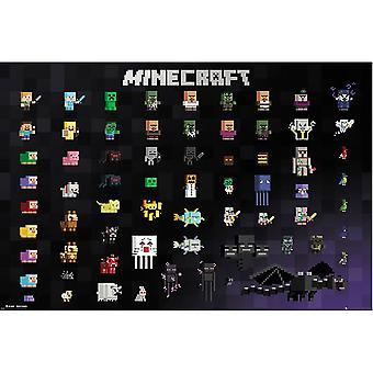 ملصق الأحرف Minecraft