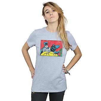 DC Comics Women's Batman Robin Slap Boyfriend Fit T-Shirt