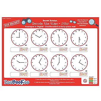 ZooBooKoo Educational Secret Scholar Decode the Time 24hr (Level 3)