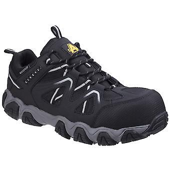 Amblers Unisex Oakham الدانتيل حتى الأحذية سلامة الجلود