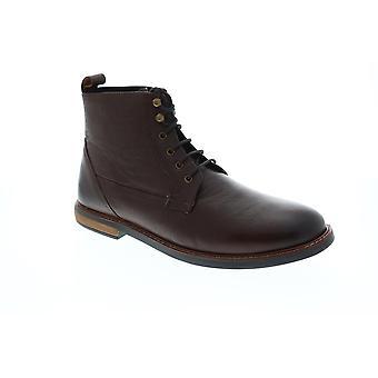 Ben Sherman Birk Plain Toe Mens Brown Cuir Casual Dress Boots Chaussures