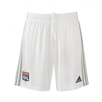 2019-2020 Olympique Lyon Adidas Home Shorts (White)