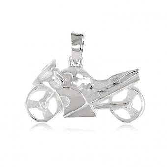 Silver Moto pendant