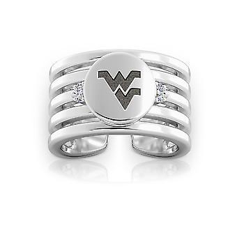West Virginia University Diamond Ring in Sterling Zilver ontwerp door BIXLER