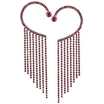 Ewige Kollektion Diva Fuchsia Pink Crystal Diamante Goldton Manschette Ohrringe