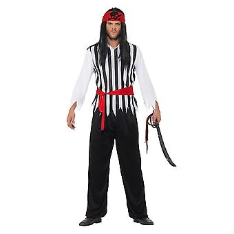Pirate Costume, Pirate Fancy Dress, Large