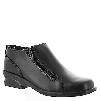 Toe Warmers Womens Voyageur Twin Zip Fabric Closed Toe Ankle Fashion Boots