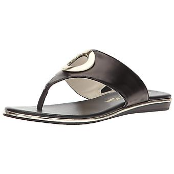 Anne Klein Womens Gia Leather Open Toe Casual