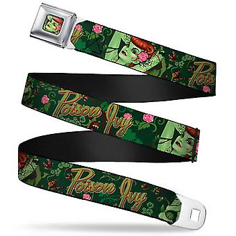 Seatbelt Belt - DC Comics - Poison Ivy V.1 Adj 24-38' Mesh jli-wdc011