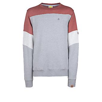 Alife and Kickin Herren Sweatshirt Hoodie Quinn Crewneck red brick