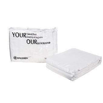 BRESSER Y-9 Tessuto di sfondo 4 x 6 m Bianco