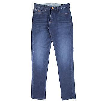 Emporio Armani J75 Slim Fit selvedge farkut denim sininen 0941