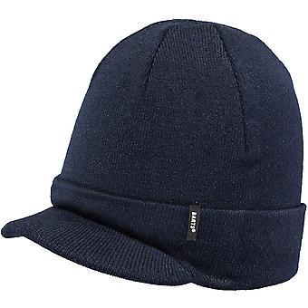 Chapeau de bonnet acrylique tricoté de Barts Mens Zoom Visor Turnup