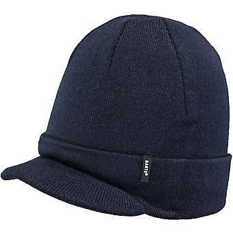 Barts Mens Zoom Visor Turnup Knitted Acrylic Beanie Hat